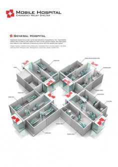 This is the Mobile Hospital, a container that expands into a medical structure three times its original size, created by designer Kukil Han. The structure can carry the beds, supplies, and has the … Storage Container Homes, Cargo Container, Container House Design, Storage Containers, Container Shop, Shipping Container Buildings, Used Shipping Containers, Shipping Container Homes, Container Architecture