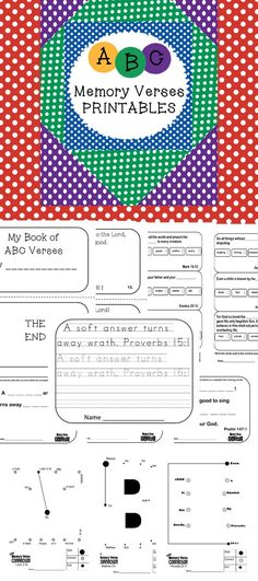 Looking for a way to encourage your students to memorize Scripture? Here ya go! This product contains the following:Copy {practice writing verse}, Comprehension {show what you know about the verse}, Connection {connect the dots to make the verse}, Completion {complete the missing words for the verse}, Circle Selection {choose the correct answer for the missing words}, Mini Book {practice by reading all of the verses}.  There is one of each activity listed above for each letter of the…