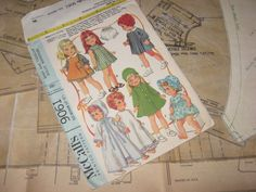 "ORIGINAL Doll Clothes PATTERN 9061 for Betsy Wetsy Baby Giggles Rutie 14"" 18"" #McCalls"