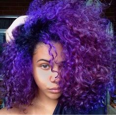 m dyed natural hair прически Dyed Natural Hair, Pelo Natural, Dyed Hair, Natural Hair With Color, Purple Ombre, Purple Hair, Ombre Hair, Violet Hair, Dope Hairstyles