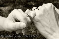 Pinkie promise to ALWAYS love you! With new wedding bands! Michelle Poelking Photography