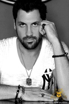 """maksim chmerkovskiy  with a moustahe, without, with hair, without..all gorgeous. The only """"without"""" that should be permanent is """"without shirt""""!!!!!"""