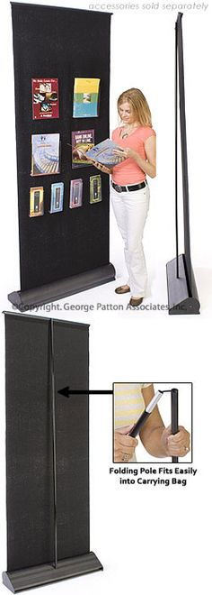 x Retractable Velcro Banner Stand - Black Pole Banners, Portable Display, Retractable Banner, Latest Design Trends, Banner Stands, Pole Fitness, Carry On Bag, Exhibit, Tired