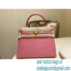 HERMES OSTRICH LEATHER KELLY 25 BAG pink Miu Miu Handbags, Balenciaga Handbags, Valentino Handbags, Chloe Handbags, Burberry Handbags, Bvlgari Handbags, Goyard Bag, Dolce And Gabbana Handbags, New Bag