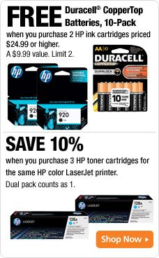 Stock up and never run out of ink at Office Depot! Shop a large selection of Printer Ink, Printer Toner and Printer Ribbons online now and save. Printer Toner Cartridge, Printer Ink Cartridges, Laser Printer Toner, Free Shipping, The Originals