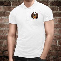 Polo homme illustré d'un aigle tenant un bouclier aux couleurs de la ville et canton de Genève Men's Polo, Polo Shirt, Canton, Polo Ralph Lauren, Mens Tops, Shirts, Fashion, Eagle, Colors