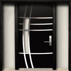 Markham Modern Doors-Modern Contemporary Door -Modern Wood Door with Stainless Steel Design & 2 Side lites installed in Whity,Ontario by Modern-doors.ca-Pic#181