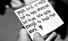 Umm this is my life... Building up walls