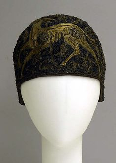 168c70b4c0a Embroidered and beaded silk cloche hat by Madeleine Panizon