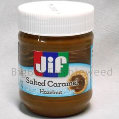JIF Salted Caramel Chocolate Hazelnut spread 13oz jar butter ice cream dessert #Jif #BigBoyTumbleweed