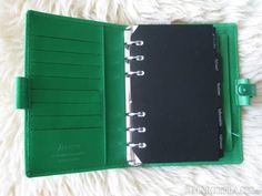 green piccadilly personal filofax in holland that i hope will become a part of my life