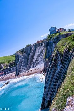 Vista del Flysch de Zumaia Basque Country, Spain, Html, Water, Places, Outdoor, Past Life, Elopements, Turismo