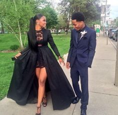 chanel-and-louboutins:  Super obsessed with her prom dress , she slayed   http://rhosegold.tumblr.com