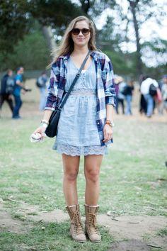 Outside lands festival fashion denim & lace