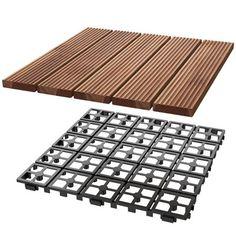 12 x PCS) Patio Pavers Interlocking Wood Tiles Wood Flooring Tiles Indoor & Outdoor For Patio Garden Deck Poolside Image 12 of 12 Ikea Deck Tiles, Outdoor Tiles, Indoor Outdoor, Outdoor Living, Outdoor Spaces, Wooden Floor Tiles, Tile Floor, Deck Flooring, Flooring Tiles