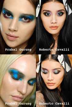 Multi-toned eye shadow looks are inspired by beetle wings and peacock feathers…