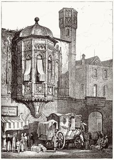 Samuel Prout, from Sketches by Samuel Prout, by Charles Holme, London, Drawing Sketches, Art Drawings, Building Sketch, Medieval Life, Amazing Drawings, Architecture Drawings, Urban Sketching, Gravure, Colorful Pictures