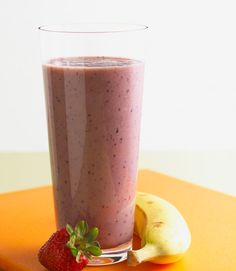 Blueberry banana smoothie. Gluten free. Gout friendly.