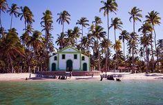 Praia dos Carneiros, no estado de Pernambuco, considerada uma das mais lindas do Brasil.