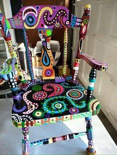 Painted Wood Furniture Wooden Chairs Rocking Funky