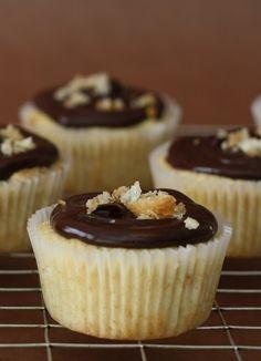 Chocolate-glazed Croissant Cupcakes