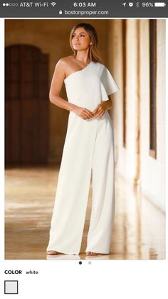 Name stylish womens jumpsuit outfits. Overall Jumpsuit, Jumpsuit Dressy, Ruffle Jumpsuit, Jumpsuit Outfit, White Jumpsuit Formal, Jumpsuit Shorts, Jumpsuit Elegante, Chic Et Choc, One Shoulder Jumpsuit