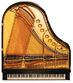 Piano Piece - Grand Piano sculpture by fiber artist Loretta Alvarado