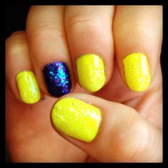 Bright and summery #manicure #nailart #nails
