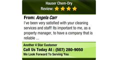 I've been very satisfied with your cleaning services and staff! Its important to me, as a...