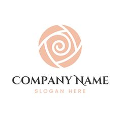 Abstract White Rose logo design