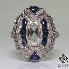 Vintage Jewelry Art Deco Platinum Diamond, Onyx, Ruby, Sapphire, and Emerald… Antique Vintage Art Deco Yellow Gold Italian Art Deco Ring, Art Deco Jewelry, Fine Jewelry, Jewelry Design, Jewelry Crafts, Jewelry Rings, Antique Rings, Antique Jewelry, Vintage Jewelry