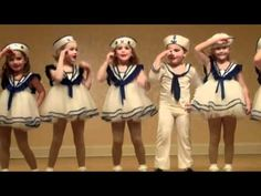 Good Ship Lollipop starring Avery Gleason - YouTube >Spring show - want to do something like these for the little ones! >has girls & boys in it.  Kids will be keeping black basics under but would still work >could make spats for girls shoes/socks >boys = make pant pattern large enough to fit over black basics. - maybe one piece?