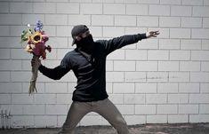 Nick Sterns: photographer imitating Banksy's graffiti images.