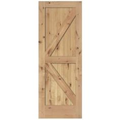 Steves & Sons, 30 in. x 84 in. 2-Panel Barn Solid Core Unfinished Knotty Alder Interior Door Slab, M74JKNNNAC99 at The Home Depot - Mobile