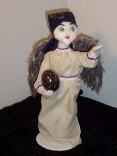 I joined another doll forum and was just in time to whip up a doll for a challenge they had going.     It was my first doll challenge and was a lot of fun to do. She is a Polish Goddess called Samovila.