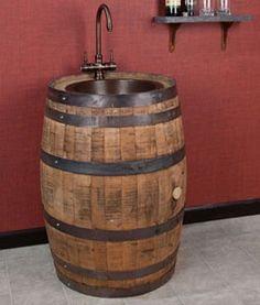 whiskey barrel sink - Buscar con Google