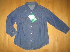 * * * BENETTON Jeanshemd, Gr.S/6 J.* * *   eBay Denim Button Up, Button Up Shirts, Benetton, Ebay, Jeans, Women, Fashion, Clothing Accessories, Moda