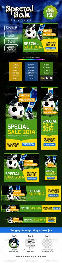 Football Special Web Banners Template PSD | Buy and Download: http://graphicriver.net/item/football-special-banners/8032566?WT.ac=category_thumb&WT.z_author=doto&ref=ksioks