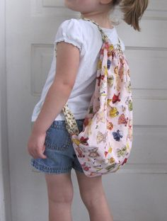 Toddler drawstring backpack