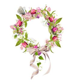 """""""Spring Wreaths"""" by kari-c ❤ liked on Polyvore featuring art"""