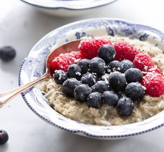Coconut Berries Oatmeal from Primavera Kitchen