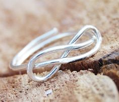 Infinity knot ring Sterling silver Wire by Karismabykarajewelry, $29.00