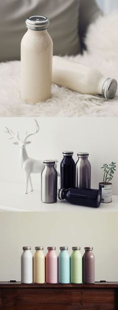 Look at this adorable tumbler! All the cuteness of a milk bottle with the functionality of a high quality travel mug! It's perfectly designed with the right size that's easy to hold & stainless steel material adds durability. It will hold up to 15 ounces of hot or cold liquids and keep any liquid insulated for up to 12 hours! The special vacuum layer also prevents condensation. Use it for your tea, coffee, juice, smoothie, and more! Always stay hydrated with your favorite beverage! Check it…