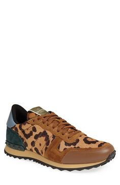 Valentino Leopard Print Sneaker (Men) available at #Nordstrom
