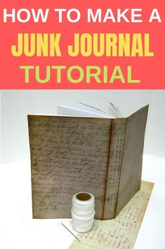 How To Create a Junk Journal - Einat Kessler Craft Projects For Adults, Easy Craft Projects, Craft Tutorials, Journal Covers, Art Journal Pages, Junk Journal, Art Journaling, Diy Paper, Paper Crafts