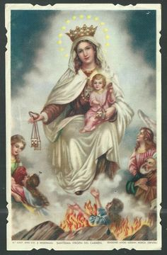 Mother Mary Images, Images Of Mary, Blessed Mother Mary, Blessed Virgin Mary, Religious Images, Religious Art, Mont Carmel, Mother Mary Tattoos, Sainte Rita