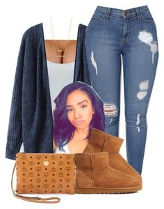 """""""Untitled #465"""" by princess-miyah ❤ liked on Polyvore featuring Alix, MCM, UGG and Jennifer Zeuner"""