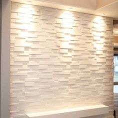 This is what I meant by 3d wall. I was thinking of this in between wine cellar hallway and half bath. Not this one specifically, but I think something like this could look cool