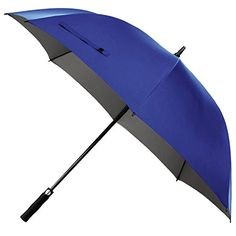 Rainlax Windproof Golf Umbrella 62 inch Oversize Canopy Automatic Open Large Outdoor 210T Teflon Rain&Wind Repellent UPF 50  Sun Protection Umbrellas (Sapphire Blue) ** You can find more details by visiting the image link.