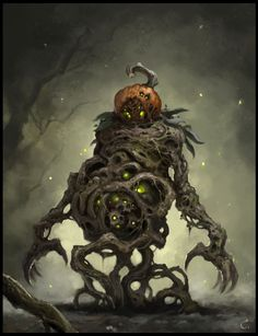 Pumpkin Warrior by AlexanderExorcist on DeviantArt Cool Monsters, Horror Monsters, Little Monsters, Halloween Painting, Halloween Art, Halloween Projects, Vintage Halloween, Happy Halloween, Diy Projects
